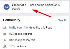 Facebook Reviews Rating Screenshot