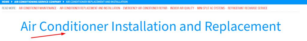 HVAC Website Page